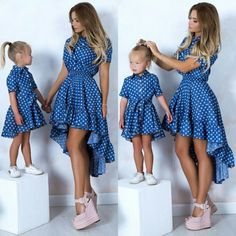 Source by lunavalentinarodriguezsuarez outfits mother daughter Mom And Baby Dresses, Mom And Baby Outfits, Family Outfits, Kids Outfits, Girls Dresses, Fashion Kids, Mom Daughter Matching Outfits, Mother Daughter Fashion, Mother Daughters
