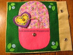 purse and heart quiet book page