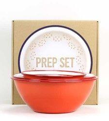 5 piece enamel prep bowl set from Brook Farm General Store