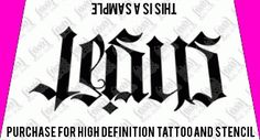 Jesus / Saves Ambigram Tattoo Design  Ambigram Tattoo Designs at WowTattoos.com Davids Manly Stuff | tattoos picture jesus tattoo designs Jesus Tattoo Design, Tattoo Ideas, Tattoo Designs, Stencils, Tattoos, Drawings, Awesome, Tatuajes, Japanese Tattoos