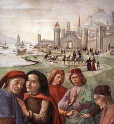 Ghirlandaio - Renunciation of Worldly Goods (Detail): 1482-85  Santa Trinita, Florence