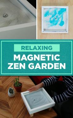 Need a break? Make this magnetic zen garden and chill out! The sand is stuck inside so you'll never make a mess!