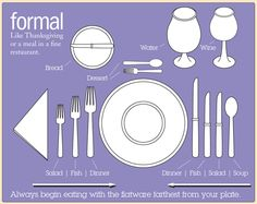 Great infographic on how to set a formal table. #tableetiquette