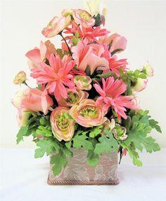 Victorian Silk Floral Arrangement Large by SandyNewhartDesigns, $65.00