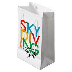 Skydiving Gift Bag - Bright! Colorful! Fun! Just like SKYDIVING!