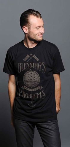 {Count Your Blessings, Not Your Problems} the ultimate tee for Father's Day.