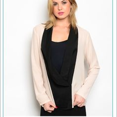 NWT Peach & Black Jacket Brand new with tags, peach and black jacket. 100% polyester. S-M-L available. Please indicate size needed. Very lightweight and beautiful! Jackets & Coats
