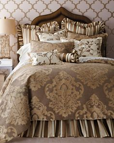 """""""Greyson"""" Bed Linens by Jane Wilner Designs at Horchow. - Stearns & Foster"""