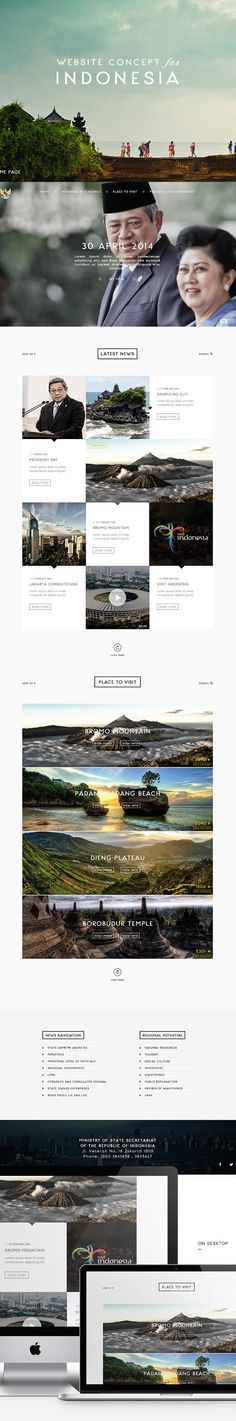 Indonesia Website Redesign via Hensa Adriano from Behance portfolio