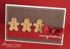 Card idea: make this gingerbread card with new @Lisa Phillips-Barton Phillips-Barton Essex Bassols Jorgensen's gingerbread dies!