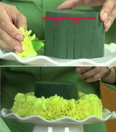 Bạn nghĩ sao nếu tự tay làm một chiếc bánh sinh nhật từ hoa?. Hãy cùng thử nhé!