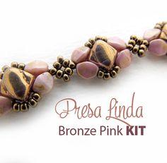 Presa Linda Bracelet Kit  Bronze Pink by Carole Ohl by openseed
