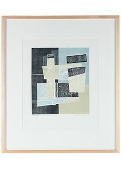"""19893- Rob Delamater, 2012, Monotype on Paper, 24""""x28"""" Framed  Price: $585.00 #abstract #monotype"""