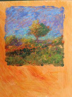 """Tree #1"", Pastel on Monotype"
