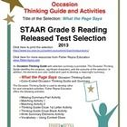 This classroom tested product includes the complete analysis for the STAAR released test poem: What the Page Says. It is released as a 8th grade se...