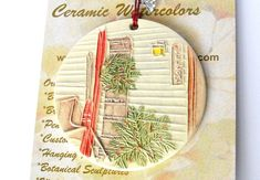 Warm Winter Welcome   Ceramic-Watercolor by FaithAnnOriginals