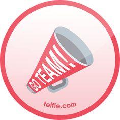 New Telfie App Stickers: #GoTeam