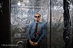 Andy Warhol inside his original silver Factory. Photo by Bob Adelman…