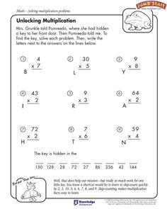 """""""Unlocking Multiplication"""" – 4th Grade Multiplication Worksheet  #JumpStart"""