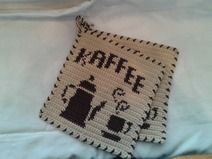 Topflappen Kaffee Coffee Gallery, Diy Laptop, Tapestry Crochet, Table Cards, Hot Pads, Diy Crochet, Sewing Tutorials, Twine, How To Fall Asleep