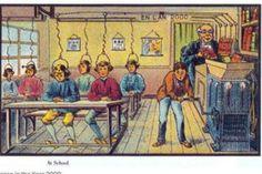 """Era assim que em 1900 se imaginava o ano 2000 - """"O pintor Jean-Marc Cote e outros artistas franceses juntaram-se, entre 1899 e 1910, e criaram 17 pinturas que anteviam como seria o mundo em 2000. O jornal Washington Post publicou a série de imagens, que além de terem decorado caixas de charutos e cigarros parisienses, transformaram-se também em postais."""" Dinheiro Vivo"""