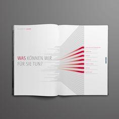 Brochure Layout Design {love the hierachy & elements} // Sahlberg by Alexander Hauptkorn