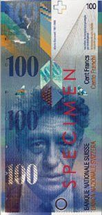 Current 100 Swiss Franc banknote, front  Alberto Giacometti