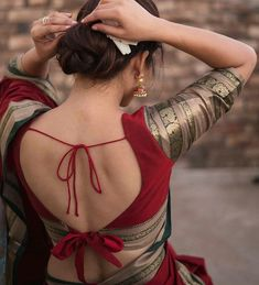 Blouse Back Neck Designs, Sari Blouse Designs, Saree Blouse Patterns, Fancy Blouse Designs, Blouse Designs Catalogue, Beautiful Blouses, Indian Fashion, Backless, Instagram