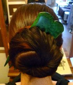 Cinnamon Bun mit meiner 5zinkigen Haarsegen Forke