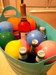 Fun idea balloons filled with water ...ice for parties.....