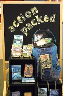 Library Displays: Action Packed--another idea.Choose Your Own Adventure books. School Library Displays, Middle School Libraries, Elementary Library, Library Inspiration, Library Ideas, Reading Display, Library Activities, Library Science, Library Bulletin Boards