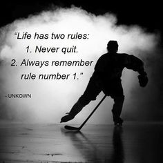 Rest if you must, but don't quit. #motivation #inspire #hockey #hockeylife  HOCKEYBOXCLUB.COM