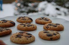 Saras madunivers: Marcipan- /chokolade cookies.