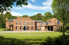 As demand for traditional country houses continues to outpace supply, increasing numbers of buyers are discovering the advantage of a new-build country residence Country Houses, Country Life, Antebellum Homes, Georgian Homes, House On A Hill, Classical Architecture, New Builds, Building A House, House Plans