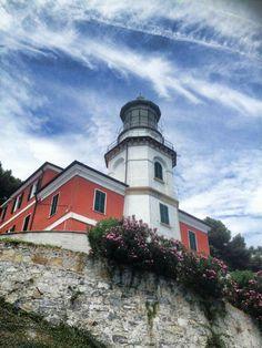 Capo Mele, Andora (SV), Liguria, Italy. Credit: Gabriella Druetta All Over The World, Around The Worlds, Beacon Of Light, Prince Edward Island, Water Tower, Light House, Oceans, Bridges, Malta