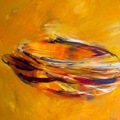 "Victoria Horkan; Painting ""Fluid Gold"" #art"