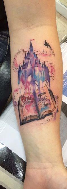 Disney castle watercolor forearm tattoo ideas for women tinkerbell fairy - ideas de tatuaje de antebrazo · watercolor sketch mickey mouse Small Tattoos With Meaning, Small Tattoos For Guys, Small Wrist Tattoos, Back Tattoos, Forearm Tattoos, New Tattoos, Sleeve Tattoos, Cool Tattoos, Best Tattoos For Women