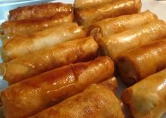 Greek Recipes, Asian Recipes, Ethnic Recipes, Spring Rolls, Party Finger Foods, Tasty, Yummy Food, Asian Cooking, Recipe Images