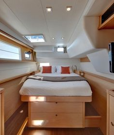 Berths are getting more comfortable with an emphasis on good stowage, light and ventilation, as on this Catana 55