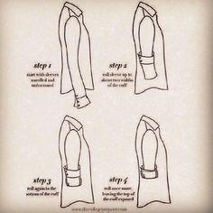 Como dobrar manga de camisa