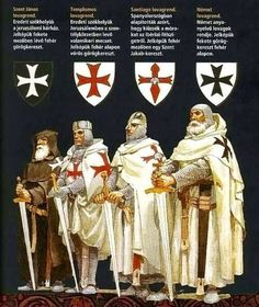 Knights Templar, The Crusaders, The Medieval Age (Dark Age) (my family founders of the Knights Templar and the Military Order of Santiago). Knights Hospitaller, Knights Templar, Crusader Knight, Christian Warrior, Armadura Medieval, Masonic Symbols, Medieval Knight, Mystery Of History, Chivalry
