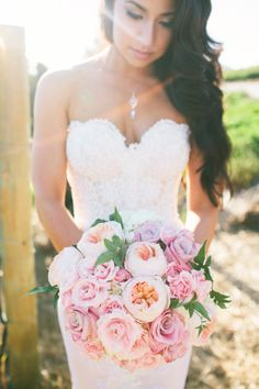 Beautiful pink bouquet. Vis Photography