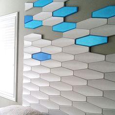 3form concrete profile tiles.   Profile Tiles de 3Form de Hunter Douglas