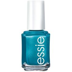 Essie Beach Bum Blue Nail Color ($9) ❤ liked on Polyvore featuring beauty products, nail care, nail polish, nails, beauty, essie, makeup, beach bum blue, essie nail color and essie nail polish