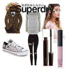 """The Cover Up – Jackets by Superdry: Contest Entry"" by titania199 ❤ liked on Polyvore featuring Converse, Mint Velvet, Topshop, Superdry, Johnny Loves Rosie, Laura Mercier and NARS Cosmetics"