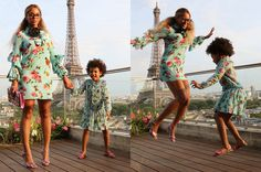 Beyoncé and Her Mini-Me Blue Ivy Carter Are Matching in Paris