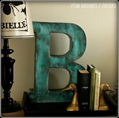 Paper Mache letter... need to try this