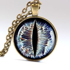 Devil eye pendant Demon eye necklace Evil eye by AimPendants