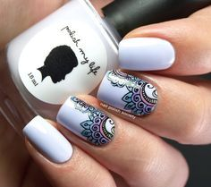 In seek out some nail designs and ideas for the nails? Here's our list of 25 must-try coffin acrylic nails for stylish women. Cute Nail Art, Cute Nails, Pretty Nails, Ongles Beiges, Mandala Nails, Stamping Nail Art, Manicure E Pedicure, Fancy Nails, Flower Nails