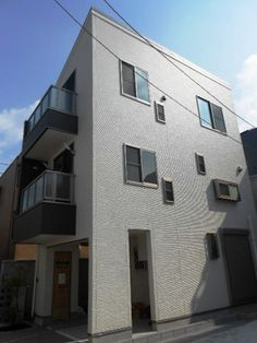 White cubic house at 大田区 新築一戸建て  http://smatan.jp/sc/ad:140.tp:2.html